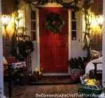 A Whimsically Decorated, Fantasy Porch for Christmas