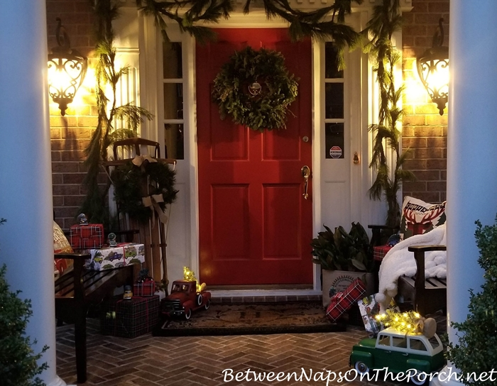 Lantern Light for a Whimsical Christmas Porch