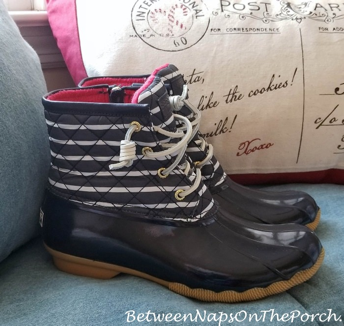 Nautical Stripe Duck Boots, Sperry