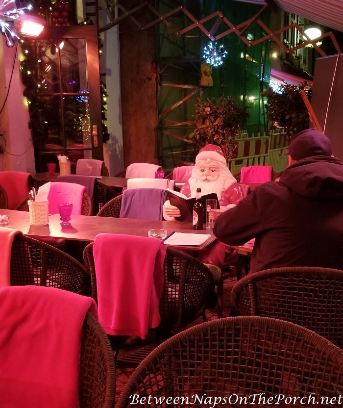 Santa Checking His List Twice, Christmas Markets, Cologne Germany, December 2017