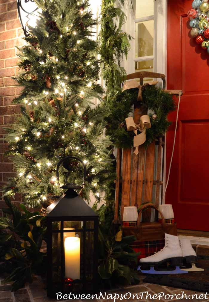Sled for Christmas Porch