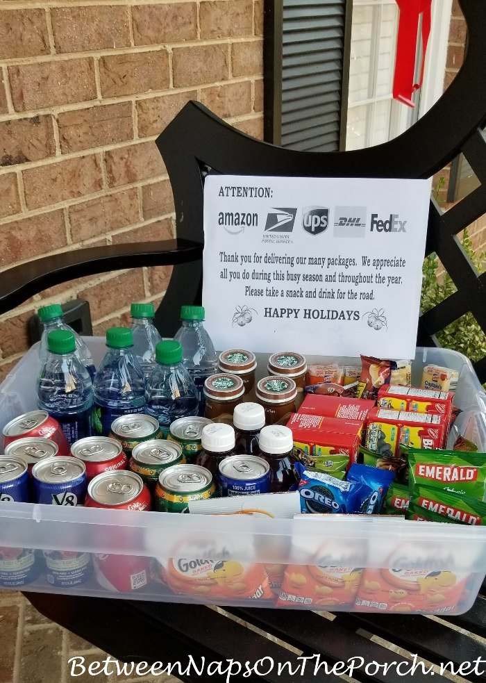 Snacks and drinks for Delivery Drivers and Package Handlers