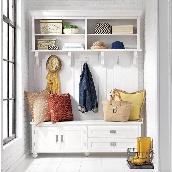 The Perfect Mudroom Hall Tree With Bench Drawers Amp Cubbies