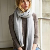 Beautiful Herringbone Cashemere Wool Scarf