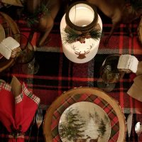Candlelight Table Setting for Winter Dining