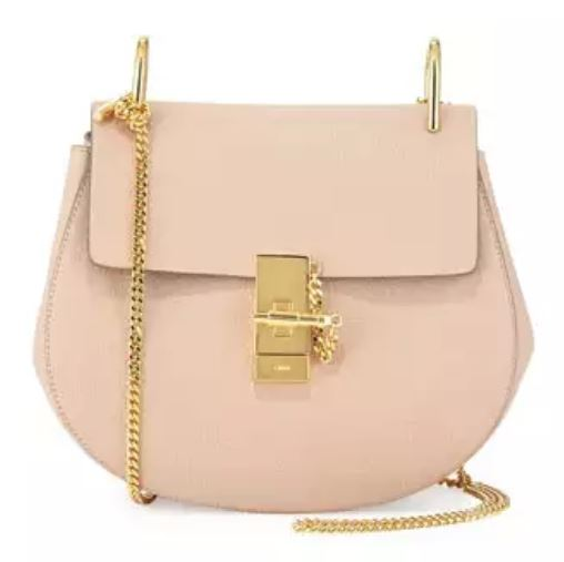 Chloe Drew Bag in Cement Pink