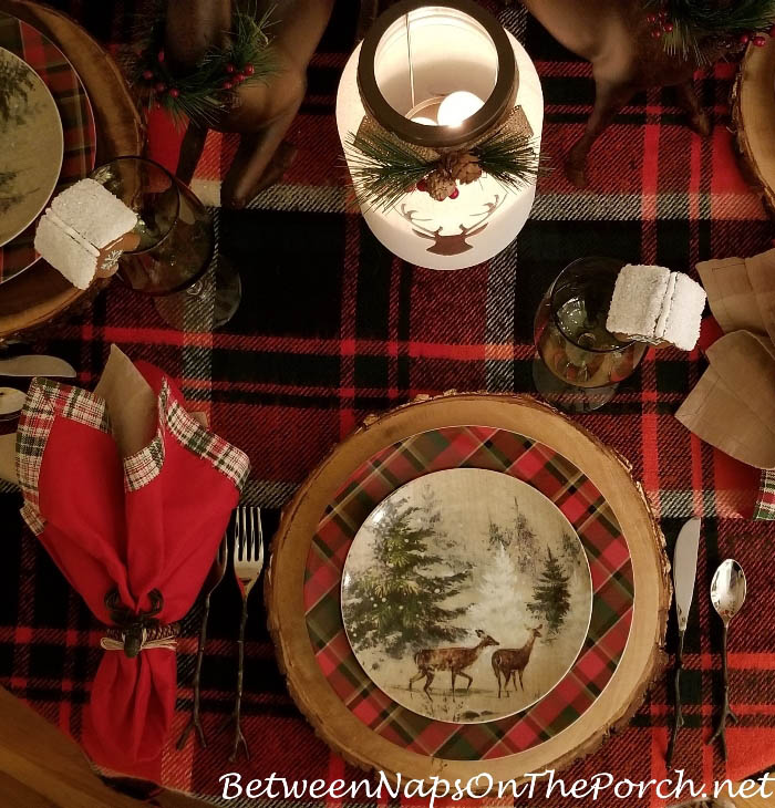 Cozy Plaids for Winter Dining, Winter Table Setting Ideas