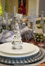 Green, White, Silver and Crystal for an Elegant Table Setting