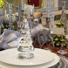 Crystal Christmas Tree for an Elegant Table