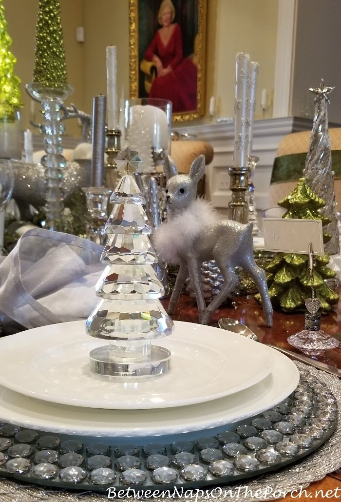 Crystal Christmas Tree for an Elegant Table