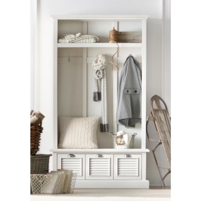 Hall Tree for Mud Room with Drawers and Cubbies