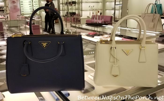 Prada Galleria Bags for Size Comparison, Small and Medium