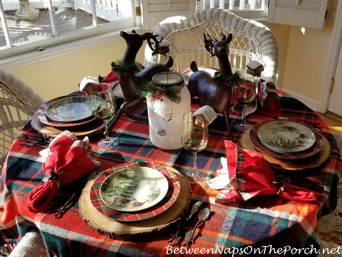 Winter Tablescape in Plaid