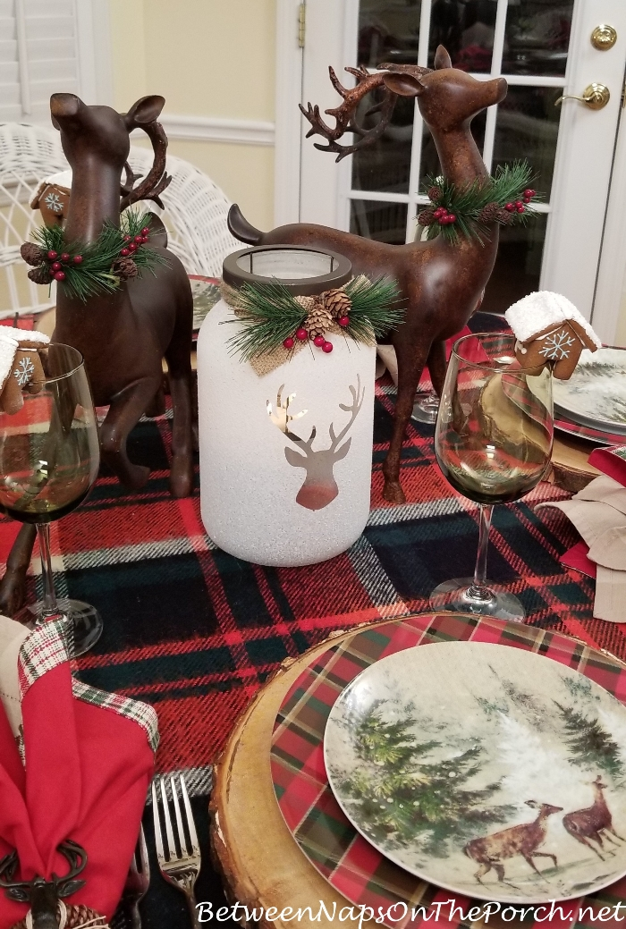 Woodland Deer Themed Table Setting with Deer Plates