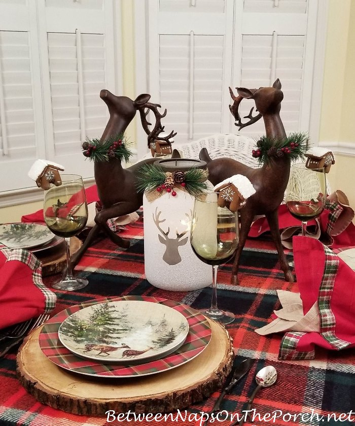 Woodland Deer Themed Table for Winter