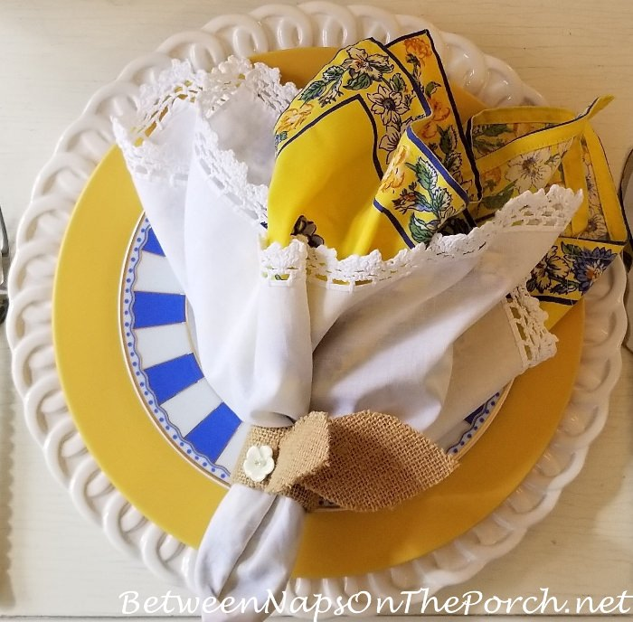 April Cornell Napkins for a Sprinjg Easter Table