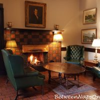 Ballynahinch Castle Entrance with Fireplace