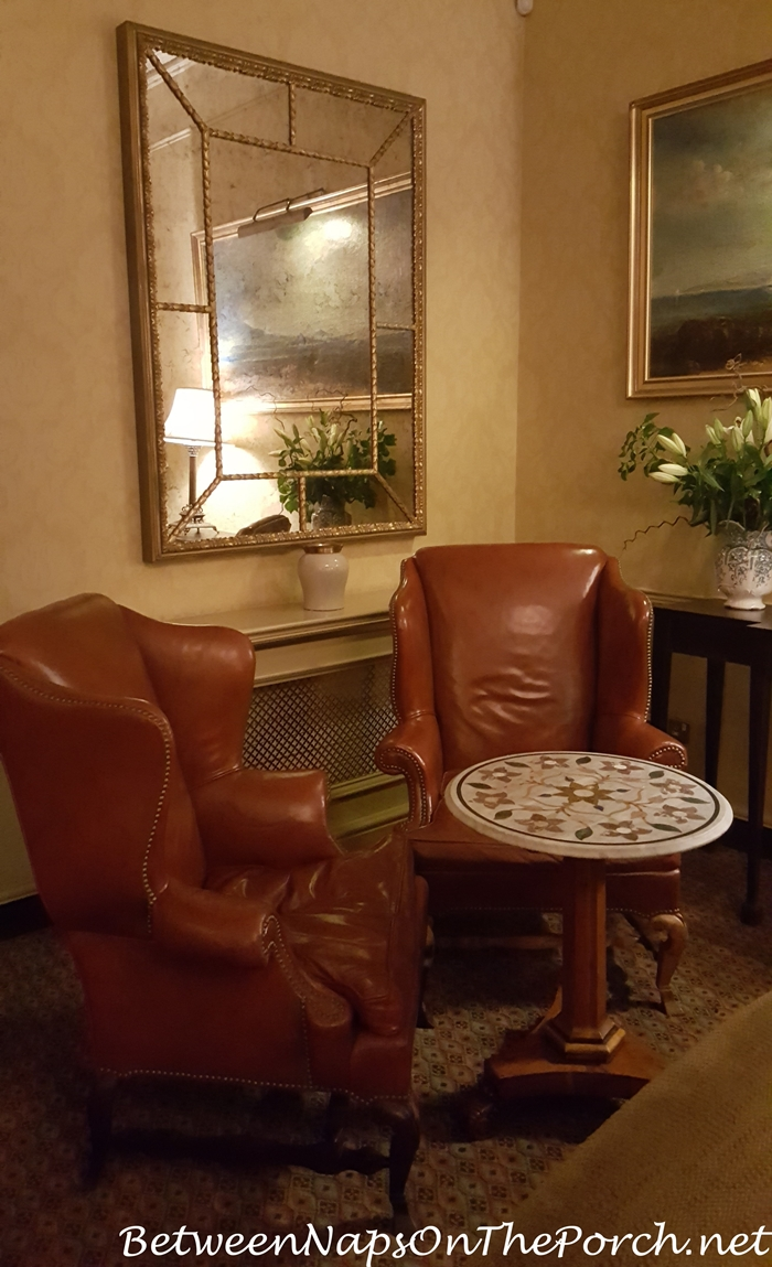 Cozy Seating Area, Wingbacks Ballynahinch Castle_wm