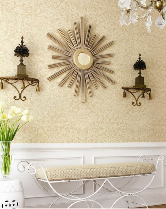 Damask Wallpaper for Entrance