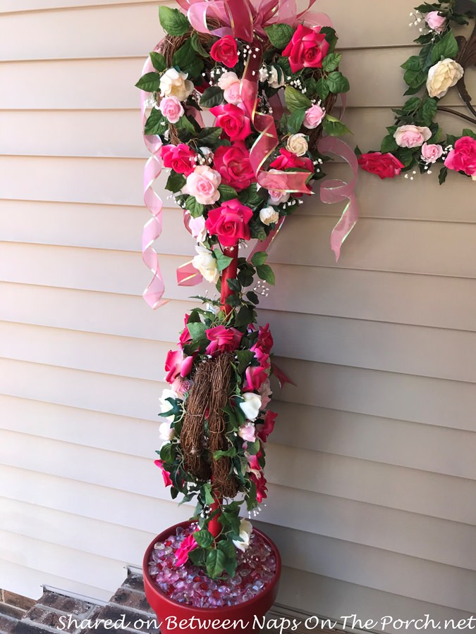Floral Topiaries for Valentine's Day