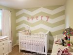 Chevron Walls Turn a Home Office Into a Beautiful Nursery