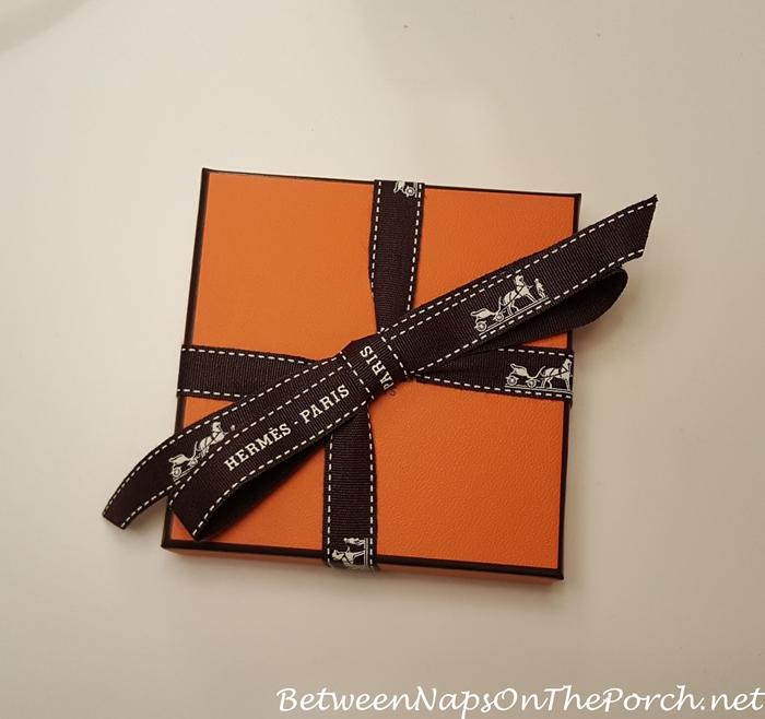Hermes Iconic Orange Box and Ribbon