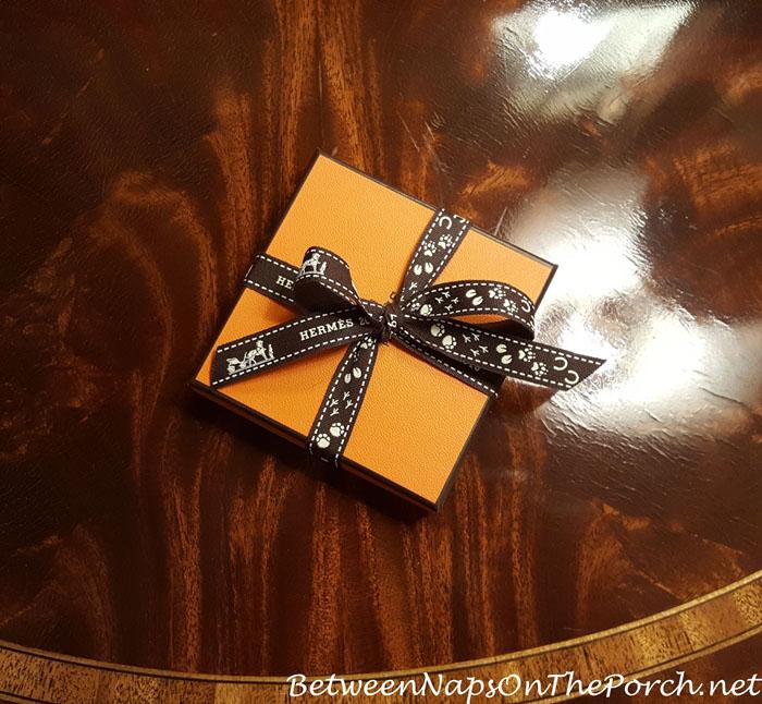 Hermes Orange Box and Ribbon