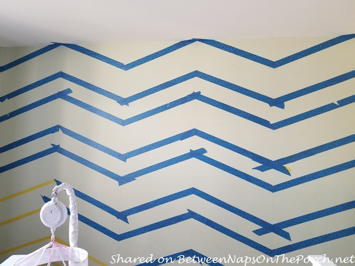 How to Add Chevron Stripes to Wall