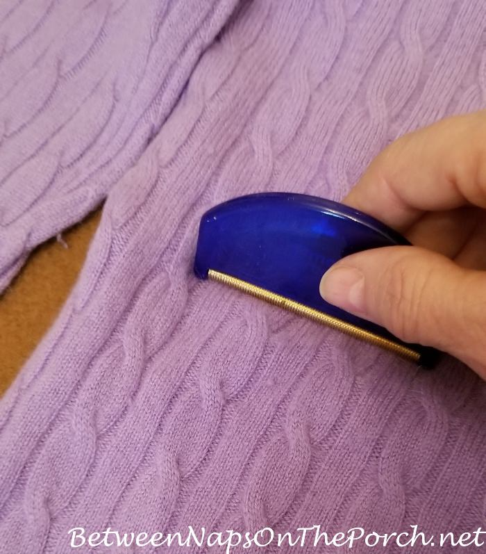 How to remove pilling & fuzz from cashmere sweater