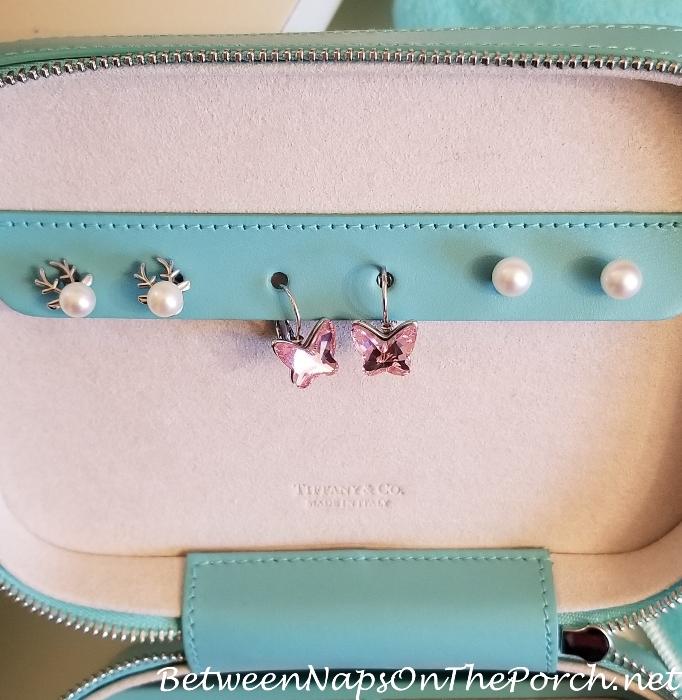 Pearl Earrings with Antlers, Swarovsky Butterfly Earrings & Akoya Peark Earrings with 14K Post