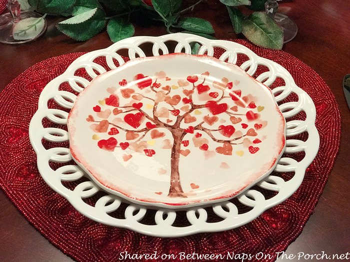 Tree of Hearts Salad Plate