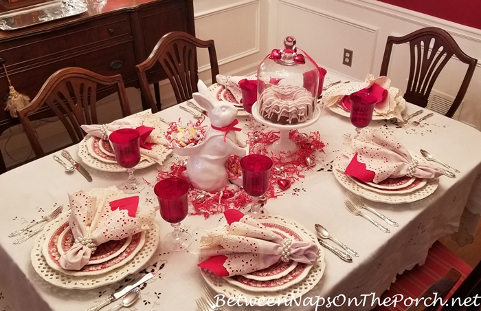 Valentine\u0027s Day Table Setting For Six & Valentine\u0027s Day Table Setting with a Guest Appearance by the Easter ...