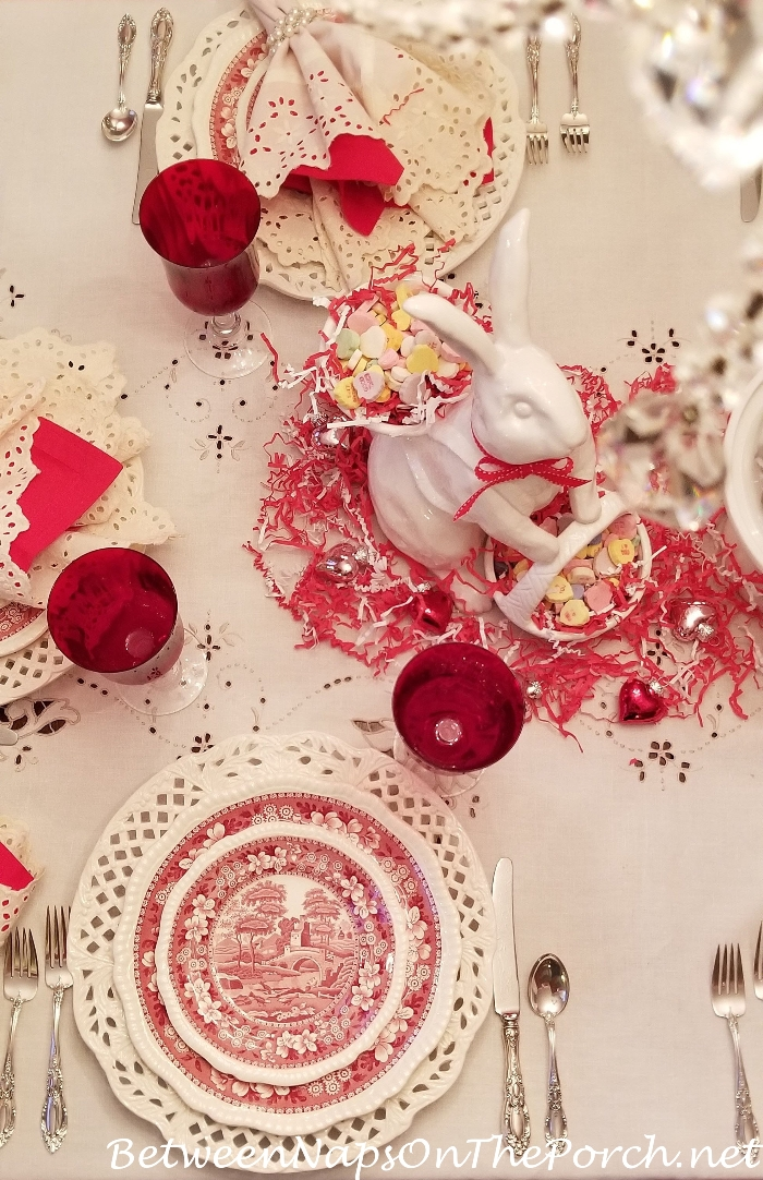 Valentine's Day Table Setting with Copeland Spode