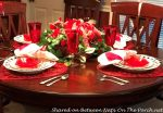 A Valentine's Day Table, Plus a DIY Heart-Wreath Topiary Craft