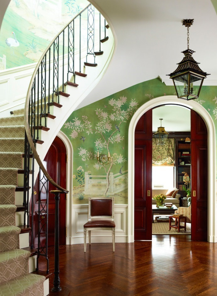 Wallpaper Foyer : Wallpaper in the entry foyer yay or nay