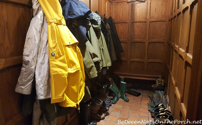 Wood Paneled Cloak Room, Ballynahinch Castle