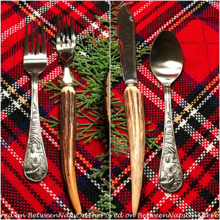 Antler and Woodland Deer Flatware for a Woodland Table Setting