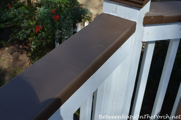 Brown Deck Rails at the End of Winter