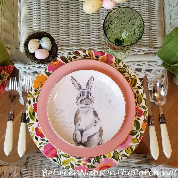 Bunny Salad Plate for a Easter Table Setting
