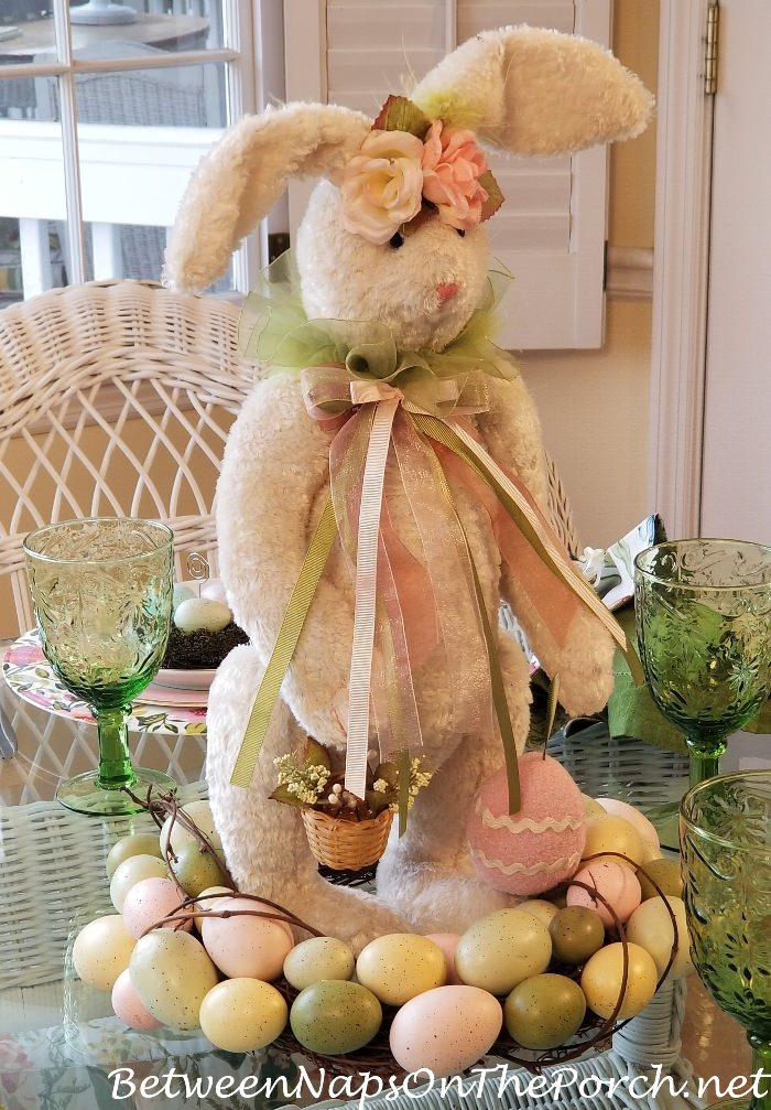 Bunny & Wreath Centerpiece