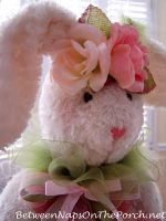 Easter-Spring Table Setting with a Visit from the Easter Bunny