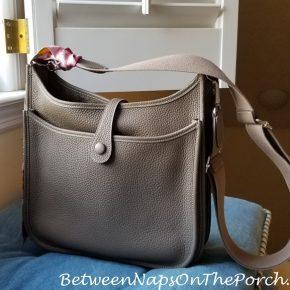 Hermes Evelyne III Handbag, Etoupe