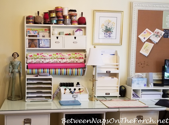 Home Office with Gift Wrapping Station