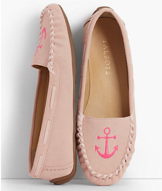 Pink Driving Moccasins