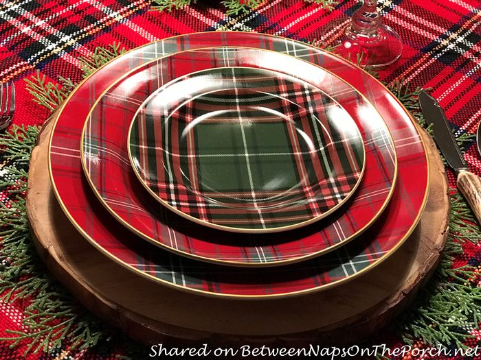 Plaid Table Setting with Tartan Dishware