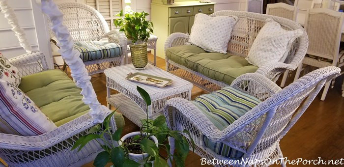 Seating Group, Wicker Furniture, Screened Porch
