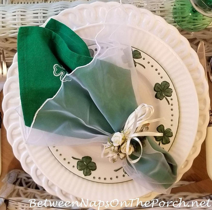 Shamrock Plates for St. Patrick's Day Table