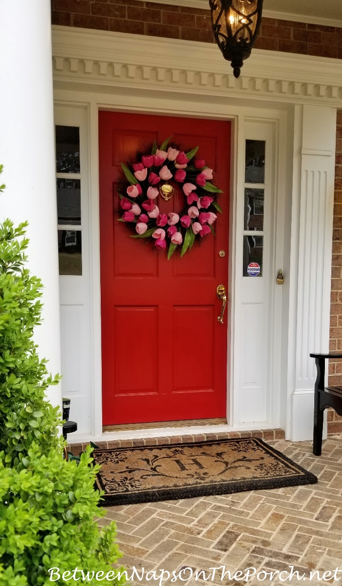 Spring Wreath for Front Door, 2018