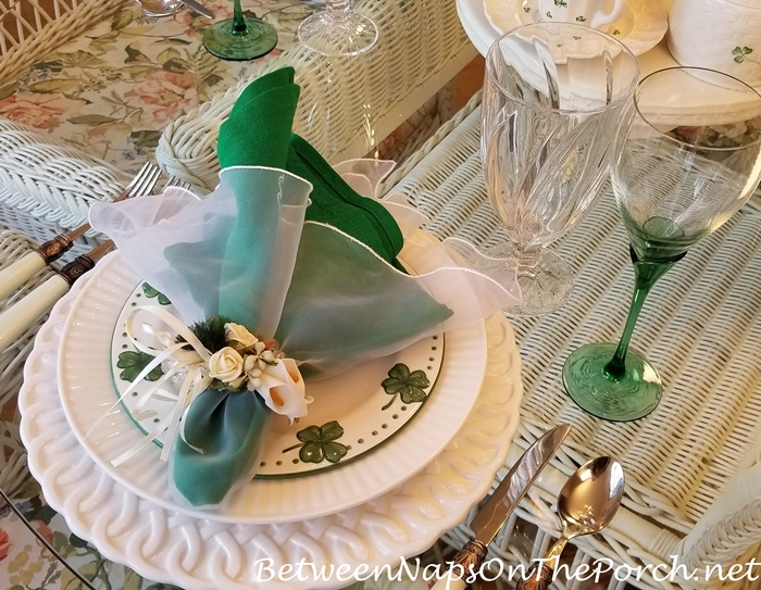 St. Patrick's Day Table, Shamrock Plates