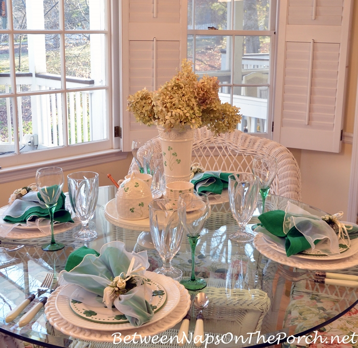 St. Patrick's Day Table with Belleek Pottery